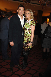 LADY ALEXANDRA SPENCER-CHURCHILL and NATHAN ROBERTS at a party to celebrate the first year if ING's sponsorship of the Renault Formula 1 team, held at the Mayfair Hotel, Stratton Street, London W1 on 28th November 2007.<br />