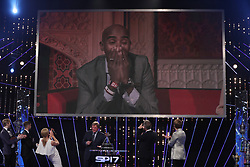 Mo Farah shows his surprise as he wins the BBC Sports Personality of the Year 2017 at the Liverpool Echo Arena.