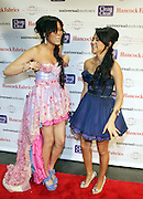 """l to r: Larissa and Kat De Luna at """" The Ultimate Prom"""" presented by Universal Motown and Mypromstyle.com held at Pier 60 at Chelsea Piers in New York City."""