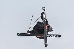 February 18, 2018 - Pyeongchang, Gangwon, South Korea - Elias Ambuehl of Switzerland  competing in slope style for men at phoenix park, Pyeongchang,  South Korea on Febuary 18, 2019. (Credit Image: © Ulrik Pedersen/NurPhoto via ZUMA Press)