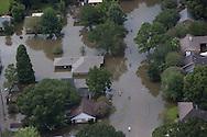 Flooded subdivision in Livingston Parish.