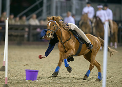 Members of team Scotland compete in the DAKS Pony Club Mounted Games during the Royal Windsor Horse Show at Windsor Castle, Berkshire.