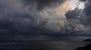Dark Storm clouds over Flinders back beach