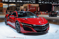 09 February 2017: Acura 2017 NSX - Road and Track Performance car of the year<br /> <br /> First staged in 1901, the Chicago Auto Show is the largest auto show in North America and has been held more times than any other auto exposition on the continent.  It has been  presented by the Chicago Automobile Trade Association (CATA) since 1935.  It is held at McCormick Place, Chicago Illinois<br /> #CAS17
