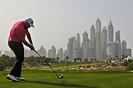 Shane Lowry (IRL) on the 8th during Round 2 of the Omega Dubai Desert Classic, Emirates Golf Club, Dubai,  United Arab Emirates. 25/01/2019<br /> Picture: Golffile   Thos Caffrey<br /> <br /> <br /> All photo usage must carry mandatory copyright credit (© Golffile   Thos Caffrey)
