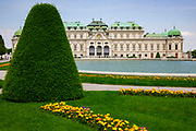 The two Baroque palaces of the Belvedere,<br />