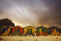 July 21, 2019 - Changing Huts, Muizenberg, Cape Town, South Africa (Credit Image: © Kristy-Anne Glubish/Design Pics via ZUMA Wire)
