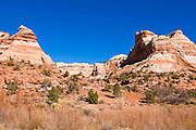Rock formations along the trail to lower Calf Creek Falls, Grand Staircase-Escalante National Monument, Utah