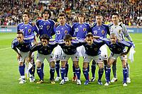 Fotball<br /> Foto: imago/Digitalsport<br /> NORWAY ONLY<br /> <br /> 30.05.2006 <br /> <br /> Mannschaftsfoto Japan hi.v.li.: Takashi Fukunishi, Yuji Nakazawa, Atsushi Yanagisawa, Shunsuke Nakamura, Keisuke Tsuboi und Torwart Yoshikatsu Kawaguchi; vorn: Hidetoshi Nakata, Tsuneyasu Miyamoto, Akira Kaji, Naohiro Takahara und Alex<br /> Lagbilde Japan