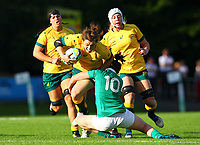 Rugby Union - 2017 Women's Rugby World Cup (WRWC) - Pool C: Ireland vs. Australia<br /> <br /> Australia's Grace Hamilton is tackled by Ireland's Nora Stapleton  , at the UCD Bowl, Dublin.<br /> <br /> COLORSPORT/KEN SUTTON