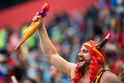 July 10, 2018 - St Petersburg, Russia - 180710 A fan of Belgium prior to the FIFA World Cup semi final match between France and Belgium on July 10, 2018 in ST Petersburg..Photo: Petter Arvidson / BILDBYRÃ…N / kod PA / 92084 (Credit Image: © Petter Arvidson/Bildbyran via ZUMA Press)