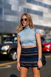 Street style, Valentina Ferragni arriving at Coach Spring Summer 2017 show held at Pier 76, in New York City, NY, USA, on September 13, 2016. Photo by Marie-Paola Bertrand-Hillion/ABACAPRESS.COM