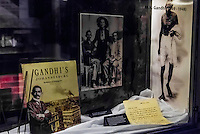 Exhibit of the young Mahatma Gandhi when he lived in Johannesburg, Apartheid Museum, Johannesburg, South Africa.