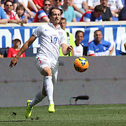 Mix Diskerud, USA, in action during the US Men's National Team Vs Turkey friendly match at Red Bull Arena.  The game was part of the USA teams three-game send-off series in preparation for the 2014 FIFA World Cup in Brazil. Red Bull Arena, Harrison, New Jersey. USA. 1st June 2014. Photo Tim Clayton
