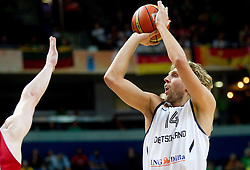 Dirk Nowitzki of Germany during basketball game between National basketball teams of Germany and Turkey at FIBA Europe Eurobasket Lithuania 2011, on September 9, 2011, in Siemens Arena,  Vilnius, Lithuania. Germany defeated Turkey 73-67.  (Photo by Vid Ponikvar / Sportida)