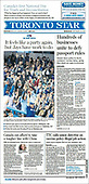 September 29, 2021 - CANADA: Front-page: Today's Newspapers In Canada