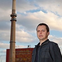 Shannon Fisk, Attorney for NRDC, standing in front of Fisk Power Plant located in Chicago, Illinois