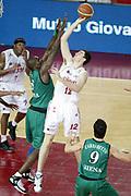 DESCRIZIONE : Roma Lega A1 2006-07 Playoff Semifinale Gara 4 Lottomatica Virtus Roma Montepaschi Siena<br /> GIOCATORE : Erazem Lorbek<br /> SQUADRA : Lottomatica Virtus Roma<br /> EVENTO : Campionato Lega A1 2006-2007 Playoff Semifinale Gara 4<br /> GARA : Lottomatica Virtus Roma Montepaschi Siena<br /> DATA : 07/06/2007 <br /> CATEGORIA : Tiro<br /> SPORT : Pallacanestro <br /> AUTORE : Agenzia Ciamillo-Castoria/L.Moggi<br /> Galleria : Lega Basket A1 2006-2007 <br /> Fotonotizia : Roma Campionato Lega A1 2006-2007 Playoff Semifinale Gara 4 Lottomatica Virtus Roma Montepaschi Siena<br /> Predefinita :