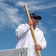Boom man <br /> <br /> Racing at the Henley Royal Regatta on The Thames river, Henley on Thames, England. Friday 5 July 2019. © Copyright photo Steve McArthur / www.photosport.nz