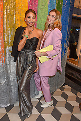 Viscountess Weymouth and Arizona Muse at a cocktail supper hosted by BOTTLETOP co-founders Cameron Saul & Oliver Wayman, along with Arizona Muse, Richard Curtis & Livia Firth to launch the #TOGETHERBAND campaign at The Quadrant Arcade on April 24, 2019 in London, England.<br /> <br /> ***For fees please contact us prior to publication***