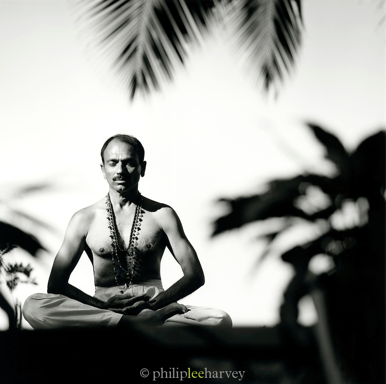 Portrait of yoga Instructor, Kerala, India
