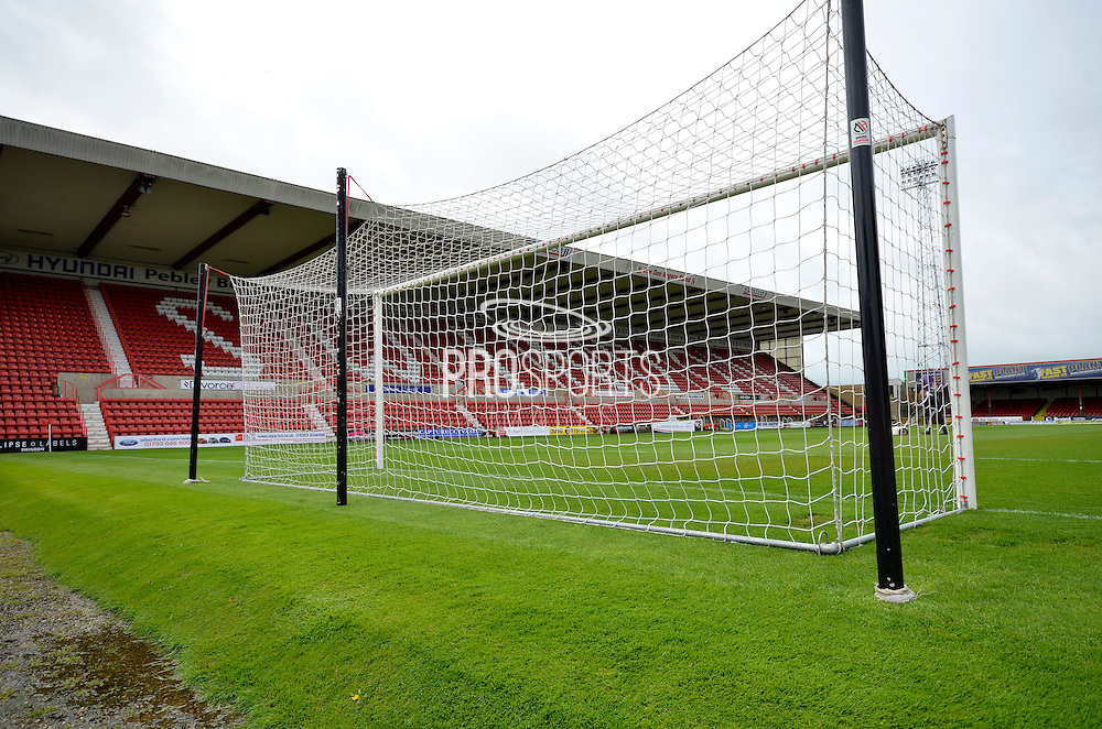 The County Ground during the Sky Bet League 1 match between Swindon Town and Leyton Orient at the County Ground, Swindon, England on 3 May 2015. Photo by Alan Franklin.