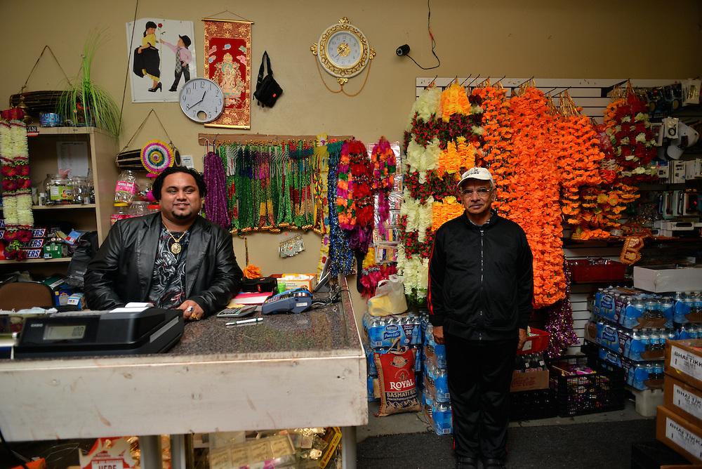 Employees at Nemaste Nepali-Indian Market.
