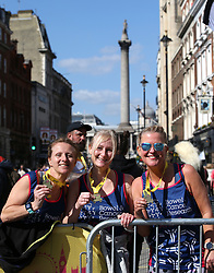 Competitors with their medals during the 2019 London Landmarks Half Marathon.