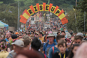 Rise up - the arch to the Green area - The 2017 Glastonbury Festival, Worthy Farm. Glastonbury, 23 June 2017