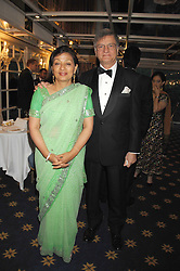 SIR GULAM & LADY NOON at the Eastern Eye Asian Business Awards 2007 in the presence of HRH The Duke of York at the Hilton Park Lane, London on 8th May 2007.<br />