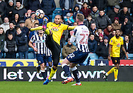 Adlene Guedioura of Watford during the FA Cup match at The Den, London<br /> Picture by Liam McAvoy/Focus Images Ltd 07413 543156<br /> 29/01/2017