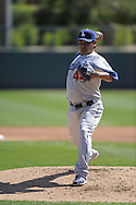 GLENDALE, AZ - MARCH 5:  Vincente Padilla #44 of the Los Angeles Dodgers pitches against the Chicago White Sox on March 5, 2010 at The Ballpark at Camelback Ranch in Glendale, Arizona. (Photo by Ron Vesely)