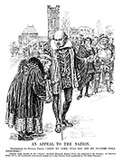"""An Appeal to the Nation. Shakespeare (to Polonius Punch). """"Good my lord, will you see my players well bestowed?"""""""