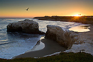 Sunset at Natural Bridges State Beach, Santa Cruz, California