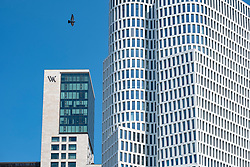 Exterior view of the new Waldorf Astoria Hotel and new  Upper West office tower in Berlin, Germany