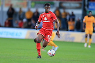 Andrew Osei-Bonsu of Milton Keynes Dons in action. EFL cup, 1st round match, Newport county v Milton Keynes Dons at Rodney Parade in Newport, South Wales on Tuesday 9th August 2016.<br /> pic by Andrew Orchard, Andrew Orchard sports photography.
