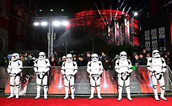 Stormtroopers attending the european premiere of Star Wars: The Last Jedi held at The Royal Albert Hall, London.