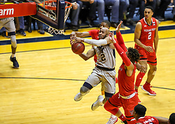 Feb 26, 2018; Morgantown, WV, USA; West Virginia Mountaineers guard Jevon Carter (2) drives down the lane during the first half against the Texas Tech Red Raiders at WVU Coliseum. Mandatory Credit: Ben Queen-USA TODAY Sports