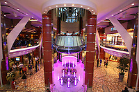 The launch of Royal Caribbean International's Oasis of the Seas, the worlds largest cruise ship..The Rising Tide Bar on the Royal Promenade