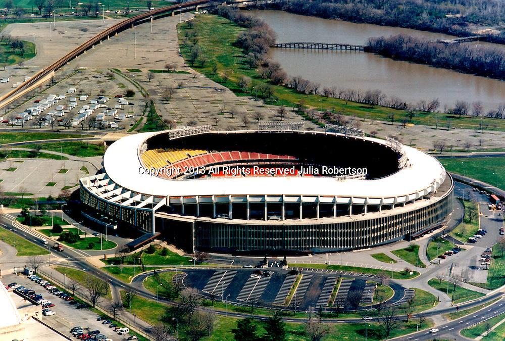 Aerial view of RFK Stadium, Original home of the Washington Redskins