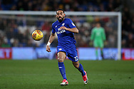 Liam Feeney of Cardiff city in action  .EFL Skybet championship match, Cardiff city v Preston North End at the Cardiff city stadium in Cardiff, South Wales on Friday 29th December 2017.<br /> pic by Andrew Orchard, Andrew Orchard sports photography.
