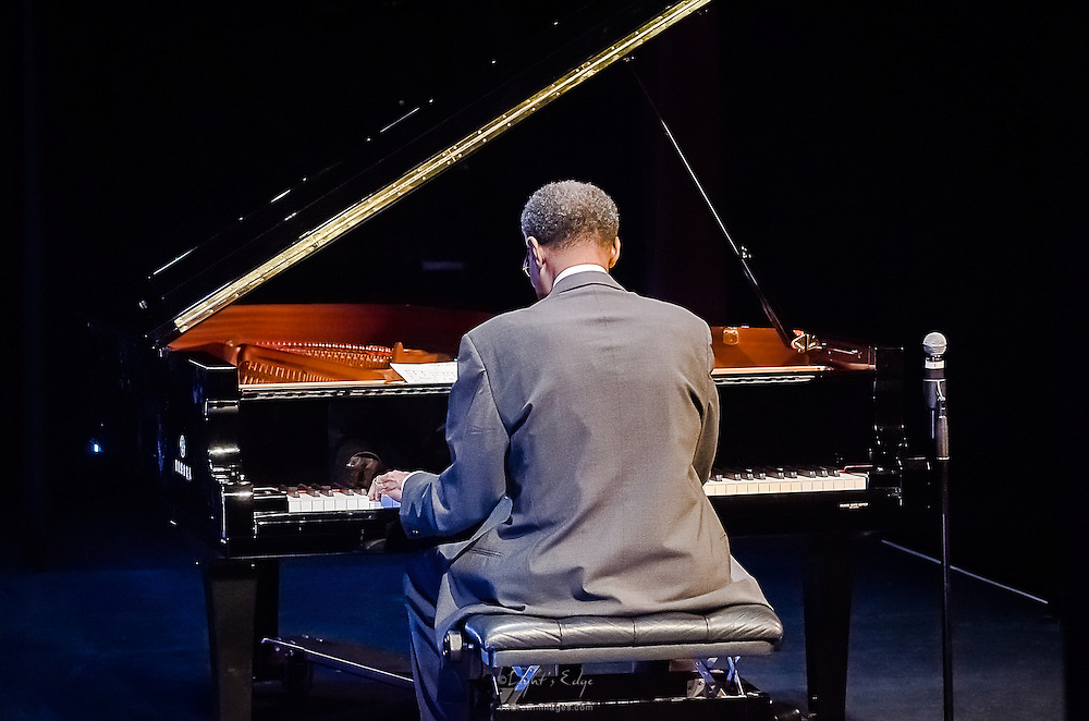 Ramsey Lewis (from behind) during his show at SOPAC in South Orange, NJ.