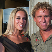NLD/Amsterdam/20130903 - Inloop premiere Stiletto 2, Michael Boogerd en partner Darya Nucci