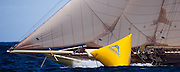 Kate sailing in the Windward Race at the Antigua Classic Yacht Regatta.