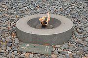 eternal flame in memory of the September 11 2001 victims Battery Park New York city