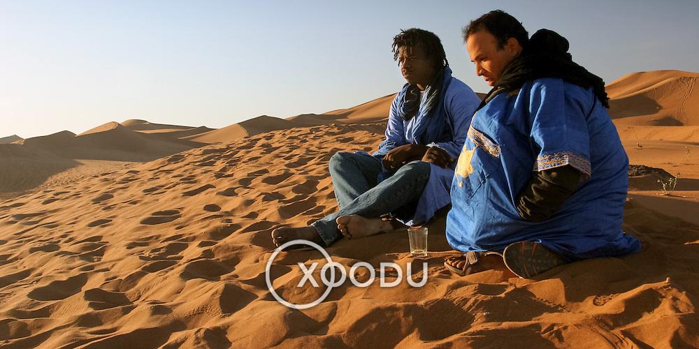 Berbers in desert, Erg Chegaga, Morocco (November 2006)