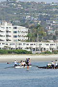 San Diego, California. USA. General Views, Crews boating from the beach. 2013 Crew Classic Regatta, Mission Bay.  10:54:20.  Saturday  06/04/2013   [Mandatory Credit. Peter Spurrier/Intersport Images]  ..