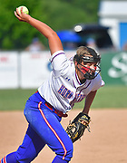 Nashville pitcher Josie Woodrome throws early in the game. Freeburg defeated Nashville in the Class 2A sectional softball title game at Nashville High School in Nashville, IL on Thursday June 10, 2021. Tim Vizer/Special to STLhighschoolsports.com.