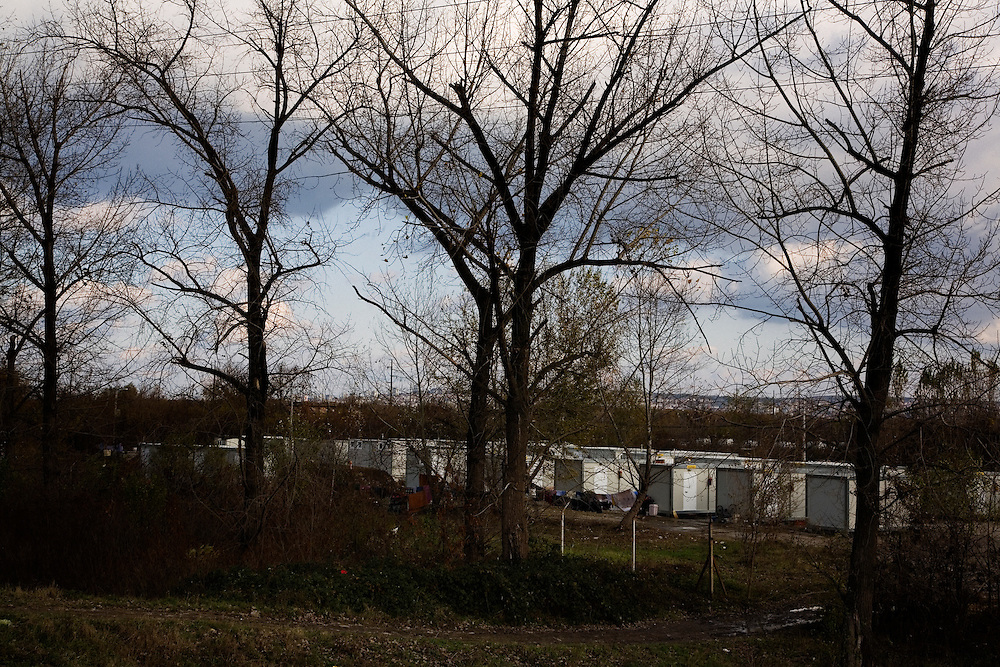 Container homes in the Makish relocation camp.