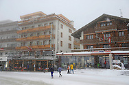 Grindelwald town in the winter snow. Ski resort - Swiss Alps .<br /> <br /> Visit our SWITZERLAND  & ALPS PHOTO COLLECTIONS for more  photos  to browse of  download or buy as prints https://funkystock.photoshelter.com/gallery-collection/Pictures-Images-of-Switzerland-Photos-of-Swiss-Alps-Landmark-Sites/C0000DPgRJMSrQ3U